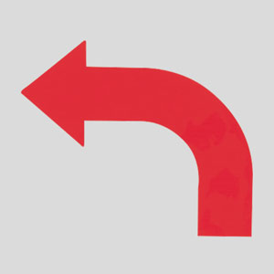 矢印テープ 862−13L 左赤 10枚1組