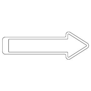 矢印テープ 862−16 白
