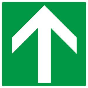 矢印ステッカー 862−33 緑地白矢印