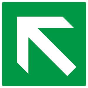 矢印ステッカー 862−34 緑地白矢印ななめ