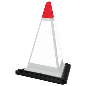 サインピラミッド 867−757GW 灰色 白無地 ゴムウェイト付
