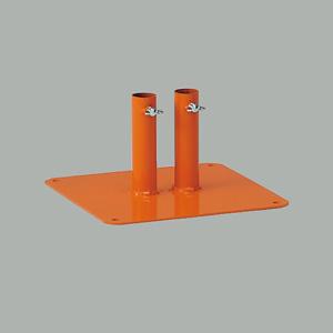 フェンス用取付足 870−45A 橙色