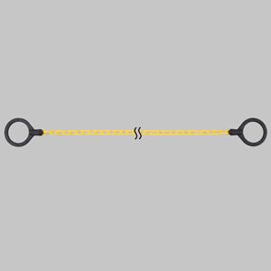 コーンチェーン 872−43 黄