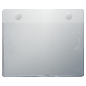 防災・訓練用品 873−652 ブルゾン用透明差替ポケット 小