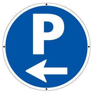 サインタワー丸表示板 887−702L P左矢印
