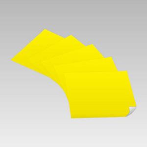 黄無地ステッカー 889−02 500×500 5枚入