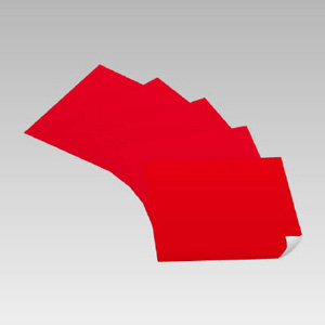 赤無地ステッカー 889−04 500×500 5枚入