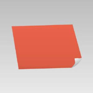 蛍光オレンジステッカー 889−20 500×500