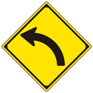 警戒標識 894−35L 202 左方屈曲あり