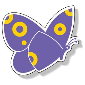 ジョイシール 913−02 蝶 紫