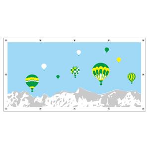 フェンスシート 930−12 バルーン曜日 気球(9つ)