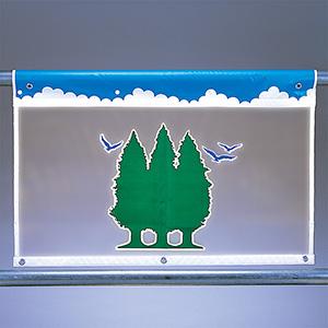 風抜けメッシュ標識 934−02 ジョイツリー(2)