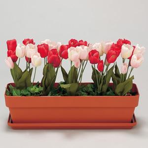 造花プランター 935−22 茶 チューリップ