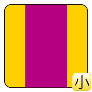 配管識別ステッカー AS−21S 放射能表示 小