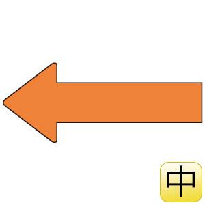 配管識別ステッカー AS−23−9M 方向表示 黄赤 中