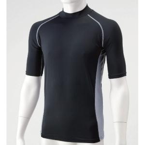 胴まわり用品 冷感パワーストレッチシャツ HO−97BK−1 半袖 M
