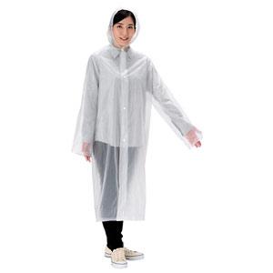 雨衣 ポケットコート クリア