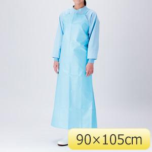 超軽量胸付きエプロン FWU−200B 90×105 ブルー
