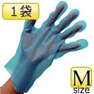 外エンボスポリエチぴったり手袋 ベルテ 574 M 100枚×1袋