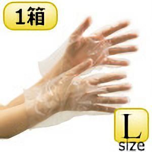 ポリエチレン製ディスポ手袋 ベルテ580 クリア L 200枚