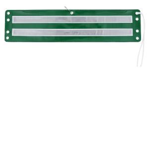 反射腕章 緑地白二本線