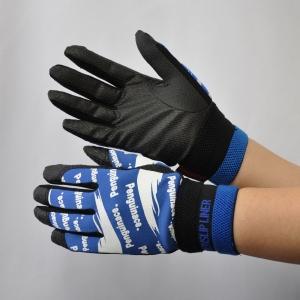 作業手袋 ノンスリップライトPパターン 甲メリ ブルー L