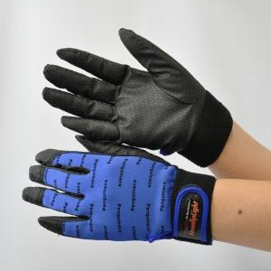 作業手袋 ノンスリップライトPパターン マジック ブルー L