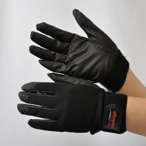 作業手袋 ノンスリップライトPパターン マジック ブラック L