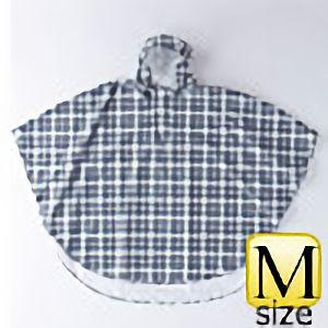 レインポンチョ�U P−02 チェック黒×グレイ M