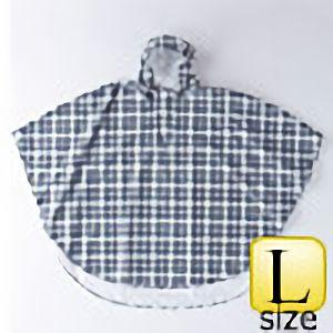 レインポンチョ�U P−02 チェック黒×グレイ L