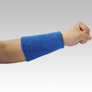 綿タオル リストバンド ロング FT−263 ブルー