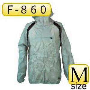 ポリエステルリップ パーカー F−860 グレー M