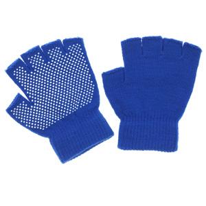 のびのび指切手袋 スベリ止め付 FT−3135 ブルー