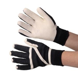 抗菌・防臭加工 ゴム張り手袋 ZONE 10Gソフト 黒×白 607−BW