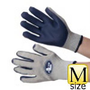 抗菌・防臭加工 ゴム張り手袋 ジャストフィット NO.410 ネイビー M
