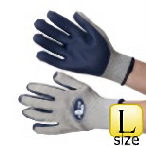 抗菌・防臭加工 ゴム張り手袋 ジャストフィット NO.410 ネイビー L