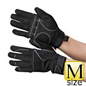 作業手袋 PU+人工皮革 黒/黒 TVC−102 M