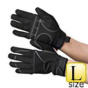 作業手袋 PU+人工皮革 黒/黒 TVC−102 L