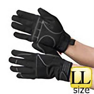 作業手袋 PU+人工皮革 黒/黒 TVC−102 LL