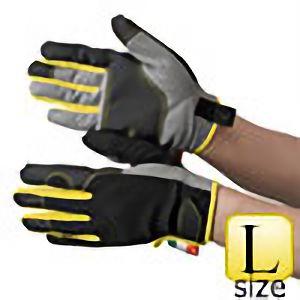 作業手袋 人工皮革 グレー/イエロー TVC−201 L