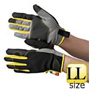 作業手袋 人工皮革 グレー/イエロー TVC−201 LL