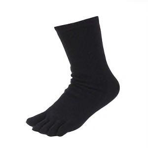 女性用裏シルク靴下 五本指 3足組 ブラック SS−310−3P
