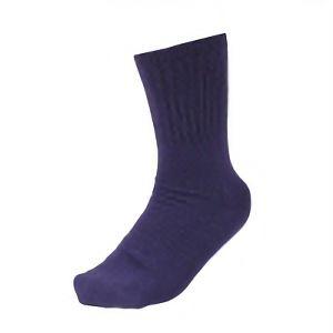 男の裏シルク靴下 先丸 3足組 パープル SS−307−3P