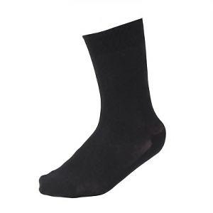 メッシュ靴下 先丸 黒 4足組 SS317−4P