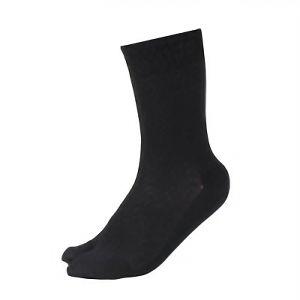 メッシュ靴下 指付 黒 4足組 SS318−4P