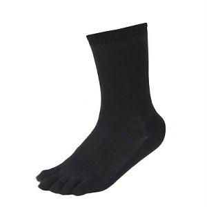 メッシュ靴下 五本指カカト付 黒 3足組 SS319−3P