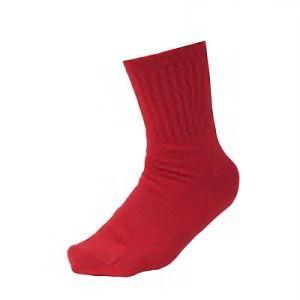 丈夫な靴下 先丸 赤 3足組 SS−314−3P