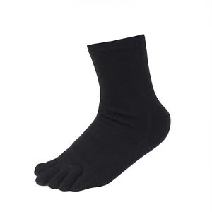 丈夫な靴下 五本指カカト付 黒 3足組 SS−315−3P