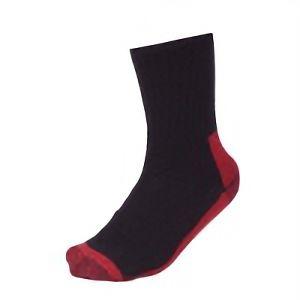 鬼底靴下 黒×赤 先丸 4足組 SS−361−4P
