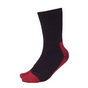 鬼底靴下 黒×赤 指付 4足組 SS−362−4P